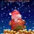 Santa claus new year and christmas card — Stock Photo