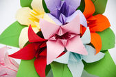 Origami flower — Stock Photo