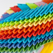 Colorful origami units - Stock Photo