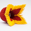 Colorful origami flower - Stock Photo