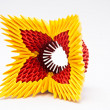 Stock Photo: Colorful origami flower
