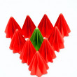 Stock Photo: Different, Colorful origami units