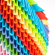 Stock Photo: Colorful origami rainbow units