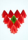 Colorful origami units — Stock Photo