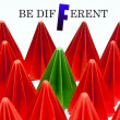 Stock Photo: Be different concept