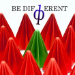 Be different concept — Stock Photo