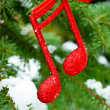 Music notes,Christmass background — Stock Photo