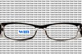 Beautiful black glasses — Stock Photo