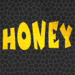 Abstract background honeycomb with text — 图库照片