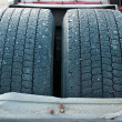 Frozen tires — Stock Photo