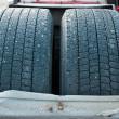 Frozen tires — Stock Photo
