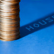 Stock Photo: Money for buying house,idea