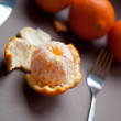 Fresh tangerine fruits - Stock Photo