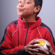 Young handball player - Stock Photo