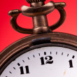 Stock Photo: Old pocket clock time editable