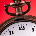 Old pocket clock time editable — Stock Photo