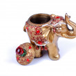 Golden hindu elephant for be happy - Stock Photo