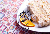 Beautifully served slice of cake — Stock Photo