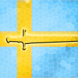 Sweden flag — Stock Photo #22879348