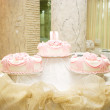 Fancy pink cake — Foto de Stock