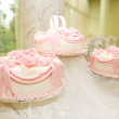 Fancy pink cake — Stock Photo