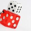 dice against white  background — Lizenzfreies Foto