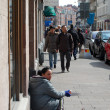 Malmo, beggar womon street — Stock Photo #24185321