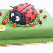 Stock Photo: Ladybug birthday cake