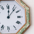 clock hanging on a wall — Stock Photo