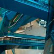 Electric Stairs in Shopping Center,Escalators - Foto de Stock