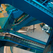 Electric Stairs in Shopping Center,Escalators - Stok fotoğraf