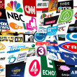 Stock Photo: World tv stations collage