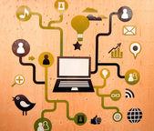 Internet, web, concept, — Stock Photo