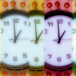 Stock Photo: Pearl wall clock