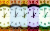 Pearl wall clock — Stock Photo