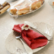 Decorated table setting — Stockfoto