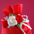 Stock Photo: Cute red gift bag