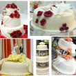 Stock Photo: Wedding cakes collage