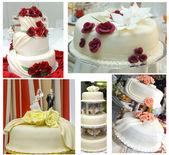Wedding cakes collage — Stock Photo