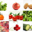 Fruits and Vegetables,Collage — Stock Photo