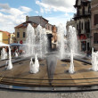 Fountain of monument Philip II, father of Alexander the Great, Bitola, Macedonia — Stock Photo