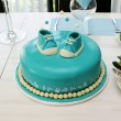 Stock Photo: Baby boy bithday cake