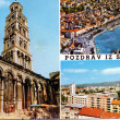 Stock Photo: Vintage post card from split, croatia