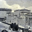 Stock Photo: Vintage card of belgrade, national theatre