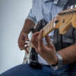 Rocker with his guitar — Stock Photo