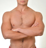 Beautiful muscular male model with nice abs — Stock Photo