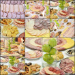 Collage of cold cuts — Stock Photo