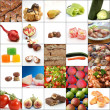 Collage of various food — Stock Photo