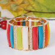 Fashion colourfull bracelet — 图库照片