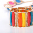 Fashion colourfull bracelet — Stock Photo